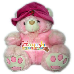 Boneka Bear Topi Red