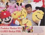 Produksi Maskot SEA GAMES Berkat PHK