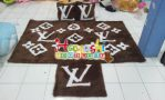 Karpet Set LV Coklat
