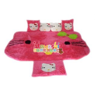 Karpet Set Kepala Hello Kitty